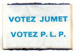 Votez Jumet Votez P L P - Matchbox Labels