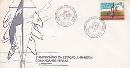 2° ANIVERSARIO DA ESTAÇAO ANTARTICA COMANDANTE FERRAZ. FDC. RIO DE JANEIRO. CIRCA 1986 -BLEUP - FDC