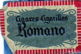 Romano Cigares Cigarillos - Matchbox Labels