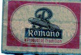 Romano Cigares Cigarillos Tradition - Matchbox Labels