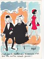 FAIZANT  Jacques  Ed Yvon  N°40  - Humour  Les Vieilles Dames  -   CPSM  10,5x15 BE 1967 Neuve - Faizant