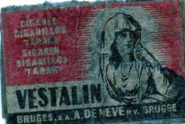 Vestalin De Neve Bruges - Matchbox Labels