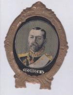 150818 ROYAUTE NOBLESSE écusson Publicitaire Tissé NOAILLY Lyon - GEORGES V - Monarchie Britannique ROYAUME UNI - Familles Royales