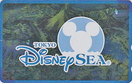Télécarte NEUVE Métal ARGENT Japon / 110-213163 - DISNEY SEA - MICKEY - Japan MINT SILVER Phonecard - Disney
