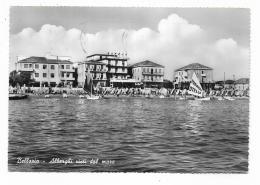 BELLARIA - ALBERGHI VISTI DAL MARE  -  VIAGGIATA FG - Rimini