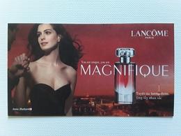 """LANCÔME   """"   MAGNIFIQUE """"  Carte  VIETNAMIENNE   ! - Perfume Cards"""