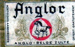 Anglor Anglo - Belge Zulte - Matchbox Labels