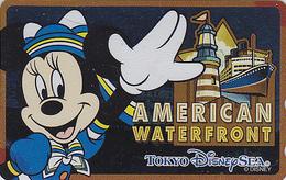 Télécarte NEUVE Métal ARGENT Japon / 110-213165 - DISNEY SEA - MICKEY AMERICAN WATERFRONT -  Japan MINT SILVER Phonecard - Disney