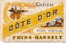 Chateau Côte D'or Fine Vieille Fryns Hasselt - Matchbox Labels