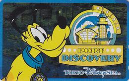 Télécarte NEUVE Métal ARGENT Japon / 110-213167 - DISNEY SEA - PLUTO PORT DISCOVERY - Japan MINT SILVER Phonecard - Disney