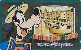 Télécarte NEUVE Métal ARGENT Japon / 110-213168 - DISNEY SEA - DINGO MEDITERRANEAN HARBOUR - Japan MINT SILVER Phonecard - Disney