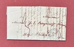 Indre  C.à.d 15 CHATEAUROUX  Lettre De 1846 Taxée 3 Décimes Pour Le Blanc - 1801-1848: Voorlopers XIX