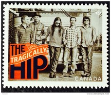 CANADA, 2013, # 2656i,  CANADIAN RECORDING ARTISTS: THE TRAGICALLY HIP, DIE CUT TO SHAPE FROM QUARTELY PACK - Carnets