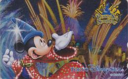 Télécarte NEUVE DOREE Métal Japon / MF-1001852 - DISNEY SEA SYMPHONY - MICKEY - Japan MINT GOLD Phonecard - Disney