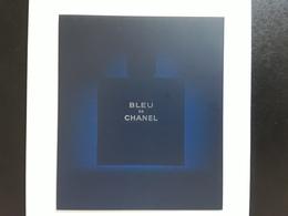 """CHANEL  """"   BLEU    """"  Carte  Double Volets  CORÉENNE   ! - Perfume Cards"""