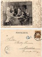 Couple - Frühlingsblumen - Peint Par O. Kirberg  - 1900 (108799) - Couples