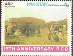 PAKISTAN VILLAGE, PAINTING, RCD 15TH ANNIVERSARY, MNH 1979 - Agricoltura