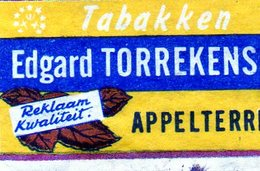 Tabacs Edgard Torrekens Appelterre Jaune - Matchbox Labels