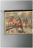 Equestre - Le Cheval Peureux (Non Signé) - Genre Sous-main Pochette - 4 Feuilles Buvard Plus Calendrier - Calendars