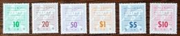HONG KONG - YT Taxe N°24 à 29 - Idéogrammes Et Texte - 1987 - Neufs - Hong Kong (...-1997)
