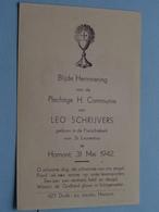 H. Communie Van Leo SCHRIJVERS I/d Parochiekerk V/ St. Laurentius Te HAMONT Op 31 Mei 1942 ( Zie Foto's ) ! - Communion