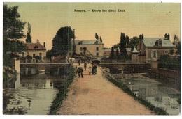 NEVERS (58) ENTRE LES DEUX EAUX. CARTE TOILEE. 1914. - Nevers