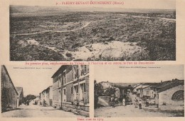 FI 13  - (55)  FLEURY DEVANT DOUAUMONT - DEUX RUES EN 1914 - VILLAGEOIS - CARTE MULTIVUES  -  2 SCANS - France