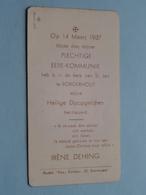 EERE-Kommunie Van Irène DEHING I/d Kerk V/ St. Jan Te BORGERHOUT Op 14 Maart 1937 ( Zie Foto's ) ! - Communion