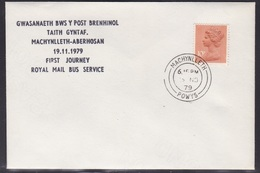 Great Britain: 1979 Machynlleth - Aberhosan Postbus Service - First Journey Cover - Marcophilie