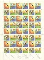 1985 SAUDI ARABIA Fourth Five Year Plan  Complete Full Sheets 12 Set 4 Values Very Rare MNH - Saudi Arabia