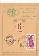 HOMENAGEM AO DIA DO FILATELISTA 1840-1954- IJUI RS. BRASIL. SIGNEE.-BLEUP - Brazil