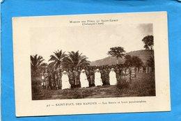 OUBANGUI CHARI-saint Paul Les Rapides-les Soeurs Et Leurs Pensionnaires -plan Animé   -années 1910-20--édition Houriez - Congo Francese - Altri