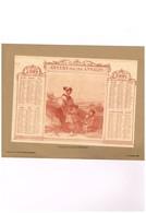 Offert Par Les Annales - Feuille Simple Collée Sur Carton Souple - D'après Une Composition De Gavarni - 1908 - Calendriers