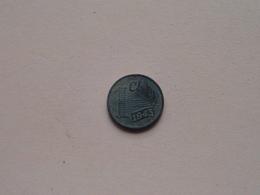 1943 - 1 Cent / KM 170 ( Uncleaned - For Grade, Please See Photo ) ! - [ 3] 1815-…: Königreich Der Niederlande