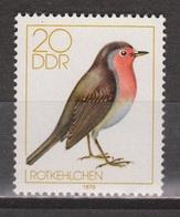 Duitsland Allemagne Deutschland Germany DDR 2390 MNH ; Zang Vogel Singing Bird Roodborst Petirrojo Red Breast Robin - Songbirds & Tree Dwellers