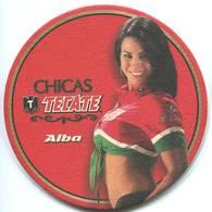 Lote M19, Mexico, Posavaso, Coaster, Tecate, Chicas, Alba - Beer Mats