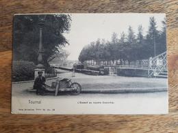 """CP Tournai (Belgique) 1906 """"L'Escaut Au Square Dumortier - Série 48 N°59 - Nels"""" - Tournai"""