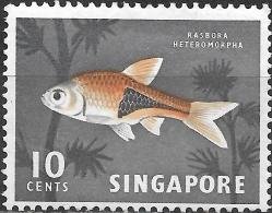 SINGAPORE 1962 Fish - 10c. Harlequinfish MH - Singapour (1959-...)