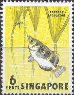 SINGAPORE 1962 Fish - 6c. Archerfish MH - Singapour (1959-...)