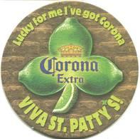 Lote M22, Mexico, Posavaso, Coaster, Corona, Light, Patty's - Beer Mats