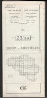 Kaart Van Belgie Nationaal Geografisch Instituut 23 / 3-4 M  1981 Boom - Mechelen - Geographical Maps