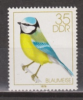 DDR Duitsland, Deutschland, Germany, Allemagne MNH ; Zang Vogels Pimpelmees Blue Tit Paro Mesange Mees Meise - Songbirds & Tree Dwellers