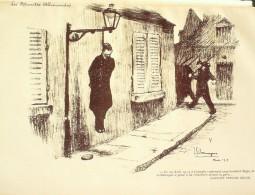 """LITHO J.G.DOMERGUE-20-""""""""LES ATROCITES ALLEMANDES"""""""" à LOUVAIN (BELGIQUE)-1914 - Lithographies"""