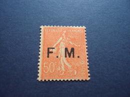 "1929   -timbre Neuf, Charnière- N°6  - F.M.-"" 50c -rouge-orange       ""    Cote       7       Net         2.40 - Franchise Militaire (timbres)"