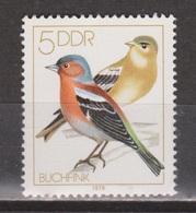 Duitsland, Allemagne, Deutschland, Germany, Alemania DDR 2388 MNH ; Zangvogel Singing Bird Vink Finch Pinson Pinzon - Songbirds & Tree Dwellers
