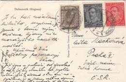 192? - 3 Fach MIF Auf Ak DUBROVNIK - 1919-1929 Königreich Der Serben, Kroaten & Slowenen