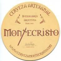 Lote A19, Argentina, Posavaso, Coaster, Montecristo, 2009 - Beer Mats