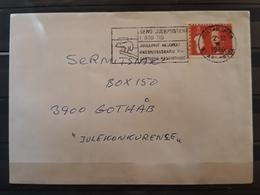 GROENLANDIA 1980 Queen Margrethe II. Carta Circulada. - Groenlandia