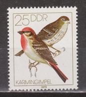 Duitsland Allemagne Deutschland Germany DDR 2391 MNH ; Zang Vogel Singing Bird Roodmus Karmingimpel - Songbirds & Tree Dwellers