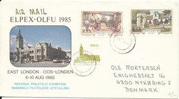 RSA Elpex Olfu 1985 National Philatelic Exhibition 6-10-Aug. 1985 Sent To Denmark - Covers & Documents